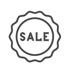 sale badge thin line icon vector image