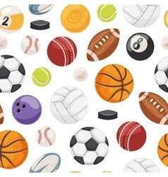 Sport balls seamless pattern vector image vector image