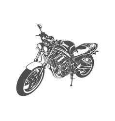 Sport motorcycle vector image