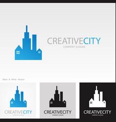 building creative logo vector image