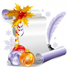 old scroll for Christmas invitation vector image vector image
