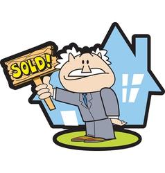 Realtor sold vector