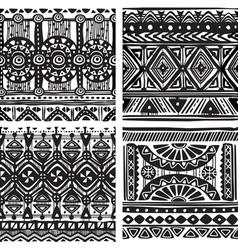 Seamless tribal texture vector image