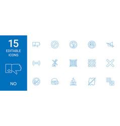 15 no icons vector