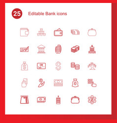 25 bank icons vector