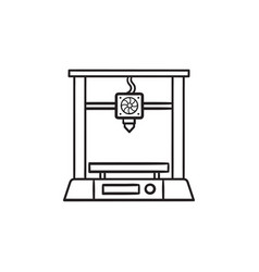 3d printer hand drawn outline doodle icon vector image