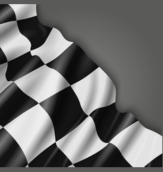 Abstract background with checkered racing vector