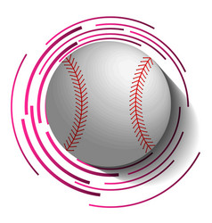 Abstract baseball image with ball in 3d effect vector