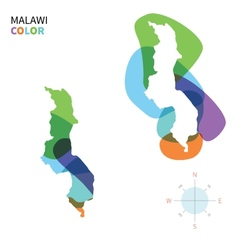 Abstract color map of Malawi vector