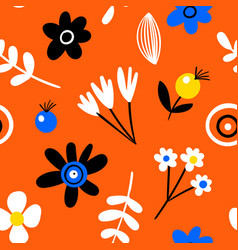 amazing seamless floral pattern with bright vector image