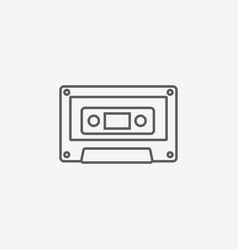 Audio cassette icon vector
