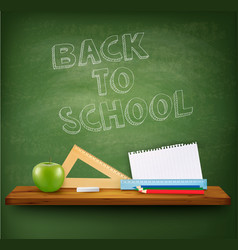 back to school background with supplies tols and vector image vector image