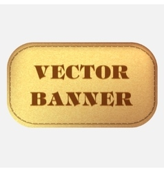 Banner Leather label vector