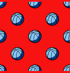 basketball ball seamless pattern vector image