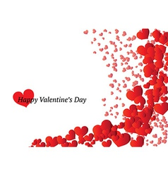 Beautiful valentines day card vector