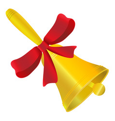 bell jolty with red bow vector image