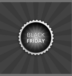 black friday round sticker color banner vector image
