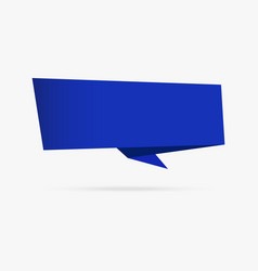 blue ocean banner origami ribbon paper vector image