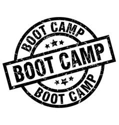 Boot camp round grunge black stamp vector