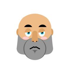 brutal man sad emoji men face sorrowful emotion vector image