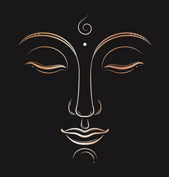 Buddha face art buddhism yoga sacred vector