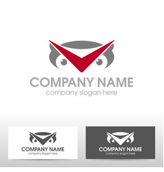 Business logo design with owl vector