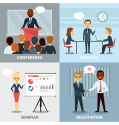 Business Pofessionals Presenting Ideas Flat vector