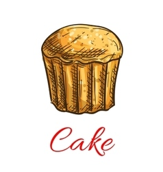 Cake sketch icon Patisserie emblem vector