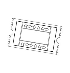 cinema ticket movie entertainment show vector image vector image