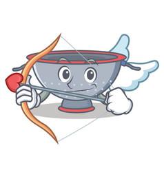 Cupid colander utensil character cartoon vector