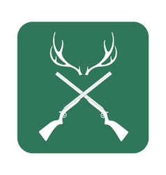 Deer horn hunt icon vector