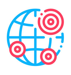 Earthquake locations icon outline vector