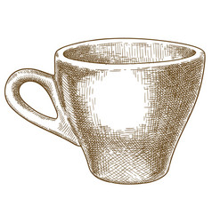 engraving coffee cup vector image