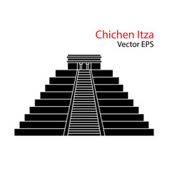 flat icon chichen itza mexico isolated vector image