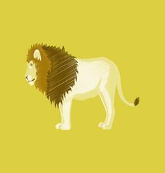 flat shading style icon lion vector image