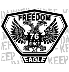 freedomeagle vector image