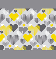 Gray and yellow color love concept icon repeatable vector