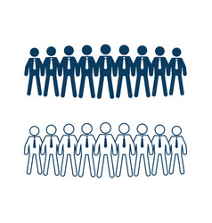 group of businessman vector image