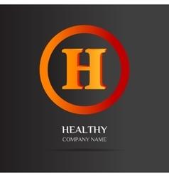 H Letter logo abstract design vector