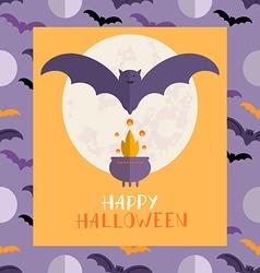 Halloween card1 vector