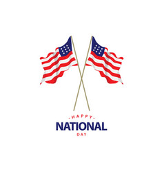Happy usa national day template design vector