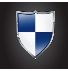 Icon of shield with glossy affect vector image