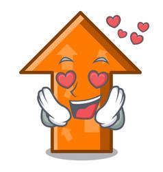 in love arrow mascot cartoon style vector image