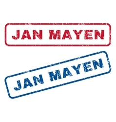 Jan Mayen Rubber Stamps vector image