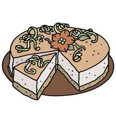 Light cream cake vector