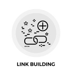 Link Building Line Icon vector