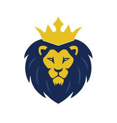 lion king head logo vector image