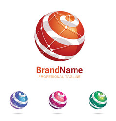 Logo stylised spherical vector