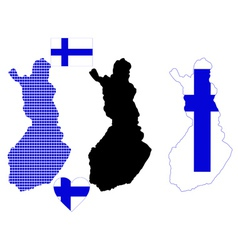 map of Finland vector image