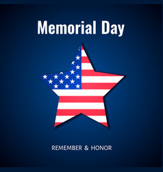 memorial day background usa flag banner star of vector image